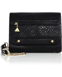 Golden Lane - Mini Pebbled Leather Shoulder Bag - Lyst