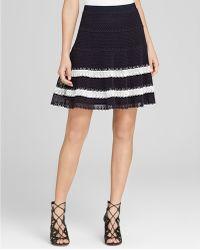 NIC+ZOE - Crochet Lace Stripe Skirt - Lyst