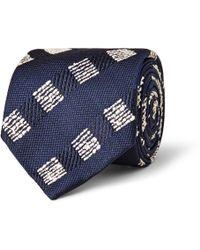 Marwood Slubbed Silk-jacquard Tie - Lyst