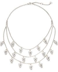 Gerard Yosca Three-row Statement Necklace - Metallic