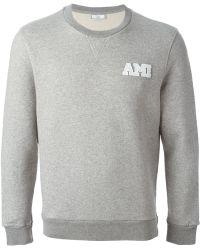 Ami Logo Patch Sweatshirt - Lyst