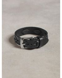 John Varvatos Leather Cuff with Laced Detail - Lyst