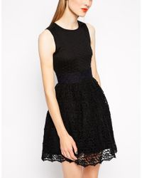 Manoush Sleeveless Dress with Lace Skirt - Lyst