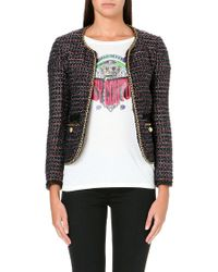 Juicy Couture Cropped Chain-link Tweed Jacket - Lyst