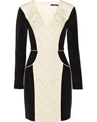 Tibi Cady and Jacquard Dress - Lyst
