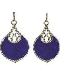 Annoushka Cloud Nine Nocturnal 18Ct White-Gold, Lapis Lazuli And Pavé Diamond Earrings - Lyst