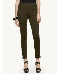 Ralph Lauren Black Label Leather-trimmed Michelle Pant - Lyst