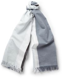 Gucci Striped Cotton And Silk-Blend Scarf - Lyst