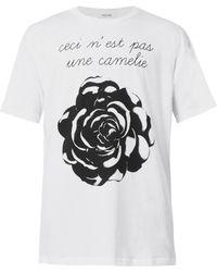 Moschino Roseprint Tshirt - Lyst