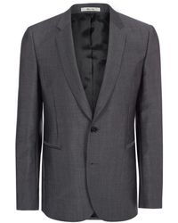 Paul Smith | Men's Slim-fit Grey Wool-mohair Blazer | Lyst