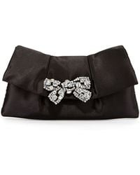 Betsey Johnson Bow Brooch Clutch Bag - Lyst