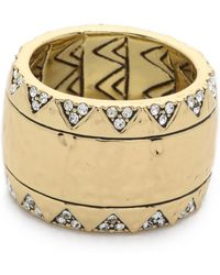 House of Harlow 1960 - Safari Band Ring - Gold - Lyst