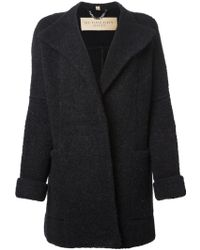 Burberry Knit Coat - Lyst