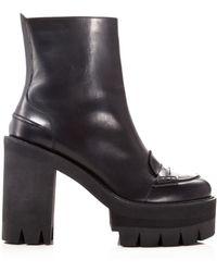 N°21 Booties - Platform Lug Sole - Black