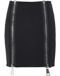 Christopher Kane Double-Zip Stretch-Cady Skirt gray - Lyst