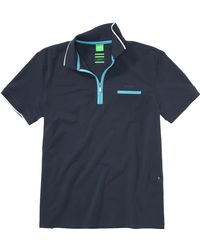BOSS Green - Philix Regular Fit Cotton Blend Polo Shirt - Lyst
