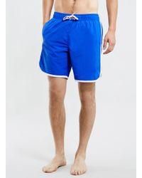 Topman Blue Swim Board Shorts - Lyst