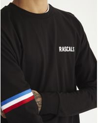 Rascals - Luther T-shirt Long Sleeve Black - Lyst