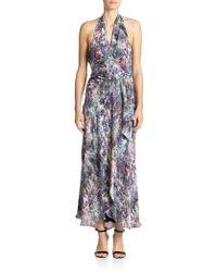 Haute Hippie Silk Halter Wrap Dress - Lyst
