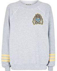 Wildfox Captain Jack Sweater gray - Lyst