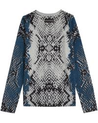 Zadig & Voltaire Printed Cashmere Pullover - Lyst