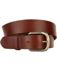 Velvet By Graham & Spencer Michael Leather Belt - Lyst