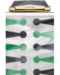 KOTUR Backgammon Bacall Perspex Cross Body - Multicolor