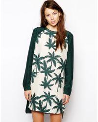 Baum Und Pferdgarten Hadya Dress in Leaf Print - Lyst