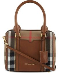 Burberry Checked Cottoncanvas Bowling Bag 30 - Lyst