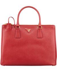 Prada Saffiano Double-Zip Executive Tote Bag - Lyst