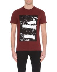 McQ by Alexander McQueen Graphic-Print Cotton T-Shirt - For Men brown - Lyst