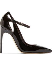 Brian Atwood Black Patent Leather Marisa Pump - Lyst
