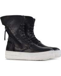 BB Washed by Bruno Bordese | Lace-Up Leather Ankle Boots | Lyst