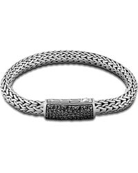 John Hardy Medium Chain Station Clasp Bracelet 7.5Mm - Lyst