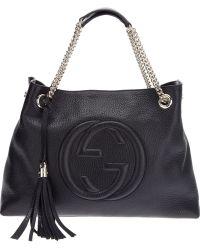 Gucci Raised Logo Tote - Lyst