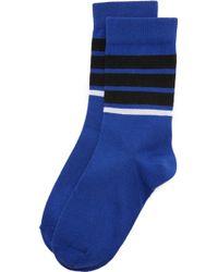 French Trotters - Stripe Socks - Lyst