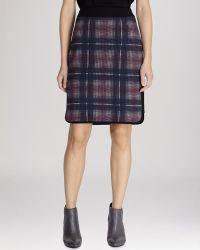 Karen Millen Skirt - Plaid Pencil - Lyst