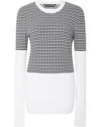 Blanc and Noir - Digital Combo Jumper - Lyst