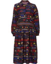 Azede Jean-Pierre - Printed Silk Shirt Dress - Lyst