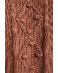Alice By Temperley - Octavia Knit Cape in Rose - Lyst