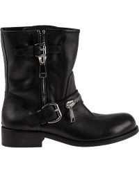 275 Central | 1887 Biker Boot Black Leather | Lyst