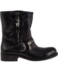 275 Central 1887 Biker Boot Black Leather - Lyst