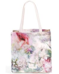 Ted Baker 'Small Icon - Pure Peony' Tote - Lyst