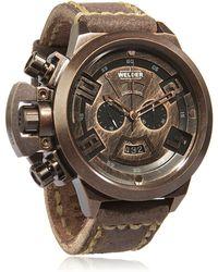 Welder K-24 Vintage Chronograph Watch - Metallic