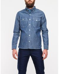 Rogue Territory Work Shirt in Raw Chambray - Lyst