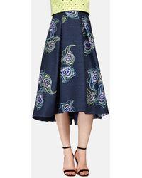 Phoebe - Print Jacquard Midi Skirt - Lyst