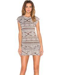 T-bags - Ruched Mini Dress - Lyst