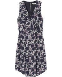 Rebecca Taylor Geo Print Cut Out Dress - Lyst