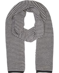 Umit Benan - Black And White Striped Supergeelong Scarf - Lyst