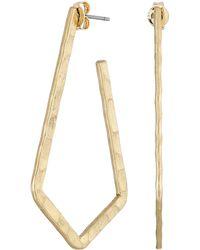Lucky Brand Hammered Hoop Earrings - Lyst